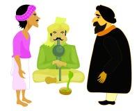 India set male snake charmer vector illustration Royalty Free Stock Photos
