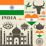 India. Set Royalty Free Stock Photos