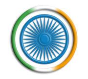 India shield for olympics. India button shield for olympics on white background Stock Photo