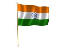 India silk flag. Silk flag of India Stock Photography