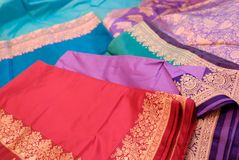 india silks arkivbild