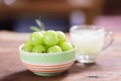 Indiańska agrestowa owoc i sok Obrazy Stock