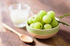 Indiańska agrestowa owoc i sok Fotografia Stock