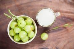 Indiańska agrestowa owoc i sok Obraz Royalty Free