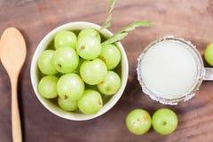 Indiańska agrestowa owoc i sok Obraz Stock