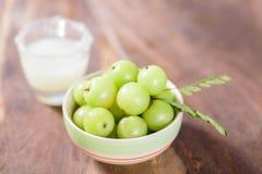 Indiańska agrestowa owoc i sok Zdjęcia Stock