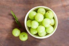 Indiańska agrestowa owoc w pucharze Fotografia Royalty Free