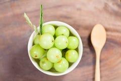 Indiańska agrestowa owoc w pucharze Fotografia Stock