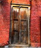 Indiańska architektura - Antyczny Drewniany drzwi Zdjęcie Royalty Free