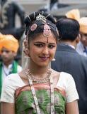 Indiańska dziewczyna w obywatel sukni Zdjęcie Royalty Free