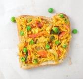 Indiańska Karmowa Masala Chlebowa kanapka Obraz Stock