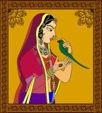 Indiańska królowa, princess portret/ Obrazy Stock