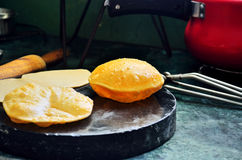 Indiańska kuchnia Puri Obrazy Stock