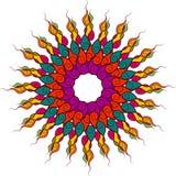 Indiańska ornament sztuka, Wektorowy kwiecisty dekoracyjny, Etniczny abstrakt, ilustracji