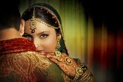 Indiańska para Obrazy Royalty Free