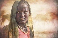 Indiańska plemienna dziewczyna od Pushkar Obraz Royalty Free