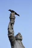 Indiańska przywódca polityczny statua: Shubhashchandra Bose Zdjęcie Royalty Free