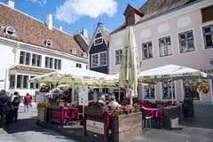 Indiańska restauracja w Starym Tallinn Obrazy Royalty Free