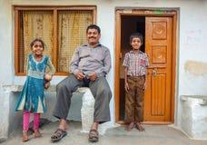 Indiańska rodzina Fotografia Royalty Free