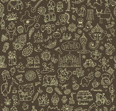 India sketch, seamless pattern for your design Royalty Free Stock Photography