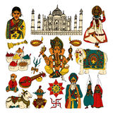 India sketch set Stock Image