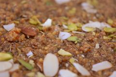 Indiański cukierki Anjeer barfi lub figi barfi Obraz Royalty Free