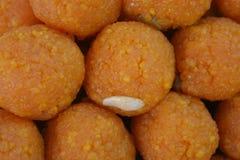 Indiański cukierki Motichoor ladoo lub laddu Fotografia Stock