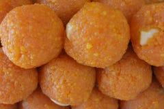 Indiański cukierki Motichoor ladoo lub laddu Obraz Royalty Free