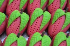 Indiański cukierki truskawki barfi Obrazy Stock