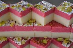 Indiański cukierki truskawki barfi Obraz Stock