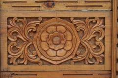 Indiański drewniany ornament drzwiowy czerep zdjęcie stock