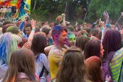 Indiański festiwal kolory Zdjęcia Stock