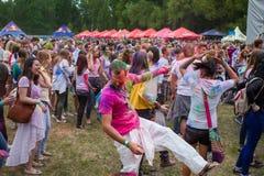 Indiański festiwal kolory Holi Zdjęcia Royalty Free