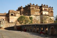 Indiański fort w Orchha Obraz Stock