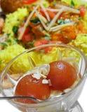 Indiański jedzenie - Gulab Jamun fotografia stock