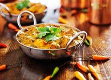 Indiański jedzenie - saag paneer curry'ego naczynie Fotografia Royalty Free