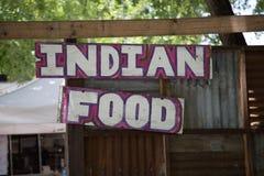Indiański jedzenie znak Zdjęcie Royalty Free