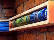 Indiański jewellery - Multicolour Bangles Obraz Stock