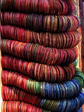 Indiański jewellery - Multicolour Bangles Fotografia Stock
