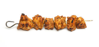 Indiański kurczak Tikka Kebab Obrazy Royalty Free