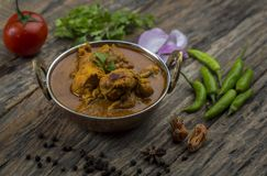 Indiański kurczaka curry lub kadai kurczak Fotografia Royalty Free