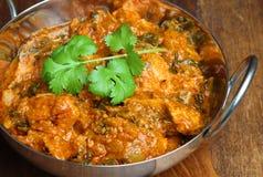 Indiański kurczaka Saag Massala curry Zdjęcia Royalty Free