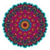 Indiański kwiecisty Etniczny mandala ornament Obrazy Stock