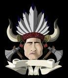 Indiański szef z tomahawkiem Zdjęcie Royalty Free