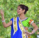 Indiański tancerz przy Chinatown lata jarmarkiem 2016 Zdjęcia Stock