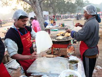 Indiański uliczny Karmowy festiwal, New Delhi Obraz Stock