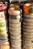 Indiańskie kolorowe bransoletki Zdjęcie Stock