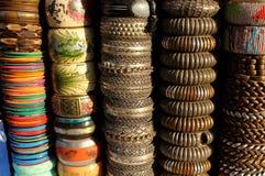 Indiańskie kolorowe bransoletki Fotografia Stock