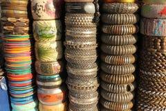 Indiańskie kolorowe bransoletki Zdjęcie Royalty Free