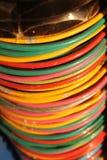 Indiańskie kolorowe bransoletki Fotografia Royalty Free